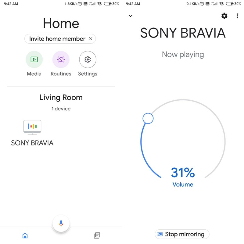 Android TV Availability in Google Home Speaker Group