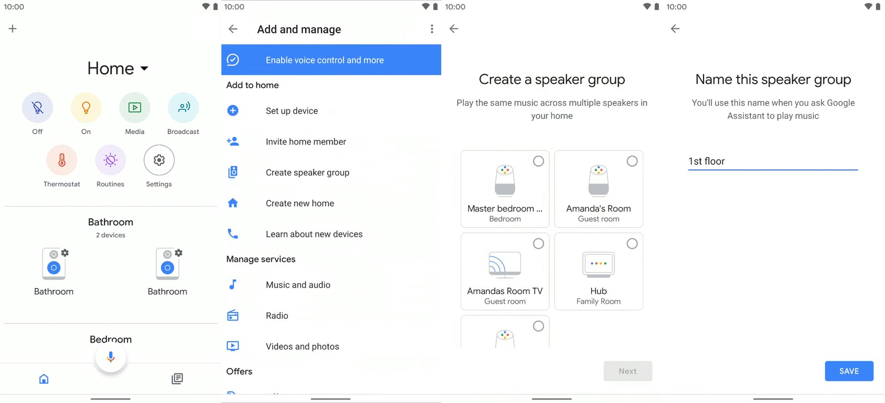 Google Home Speaker Group Setup