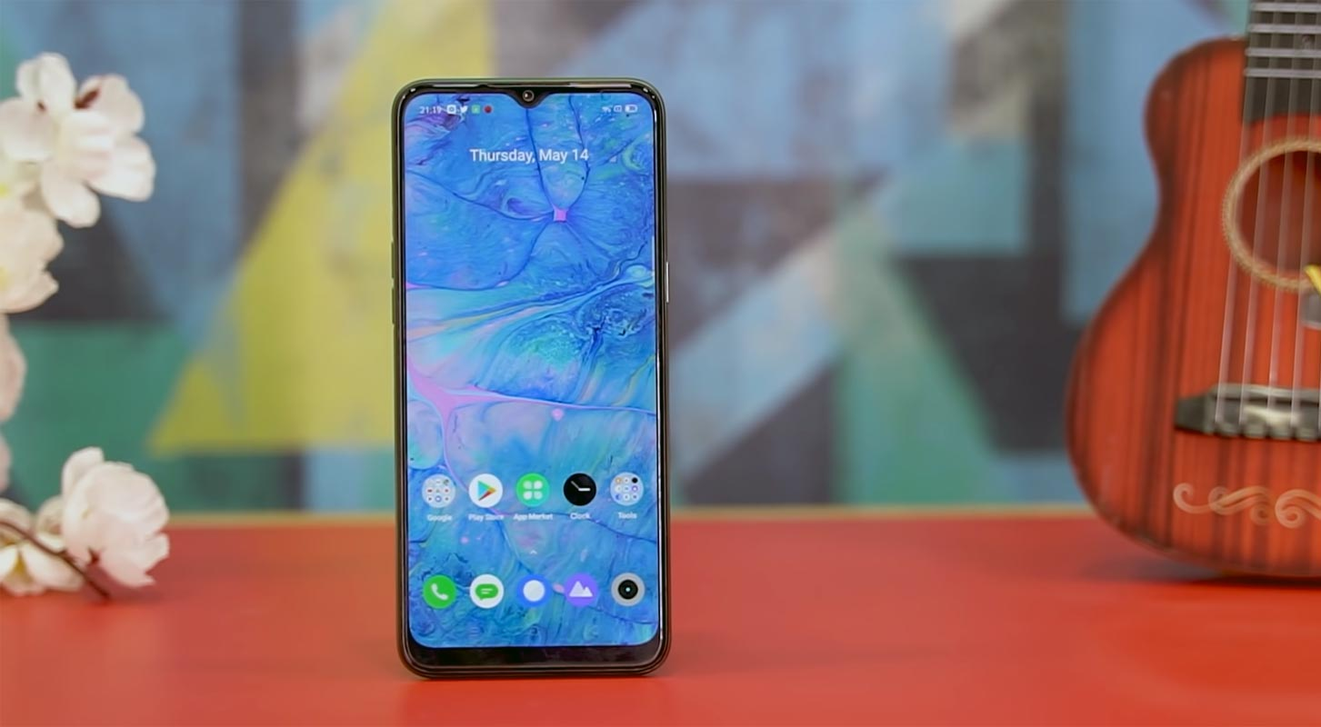 Realme Narzo 10 Front Side in the Table