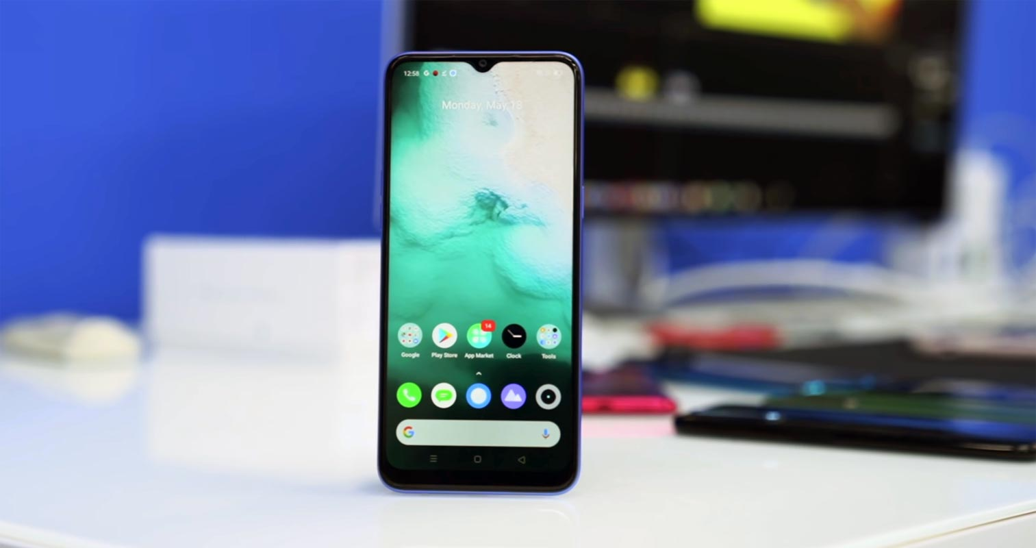 Realme Narzo 10A Front Side on The Table