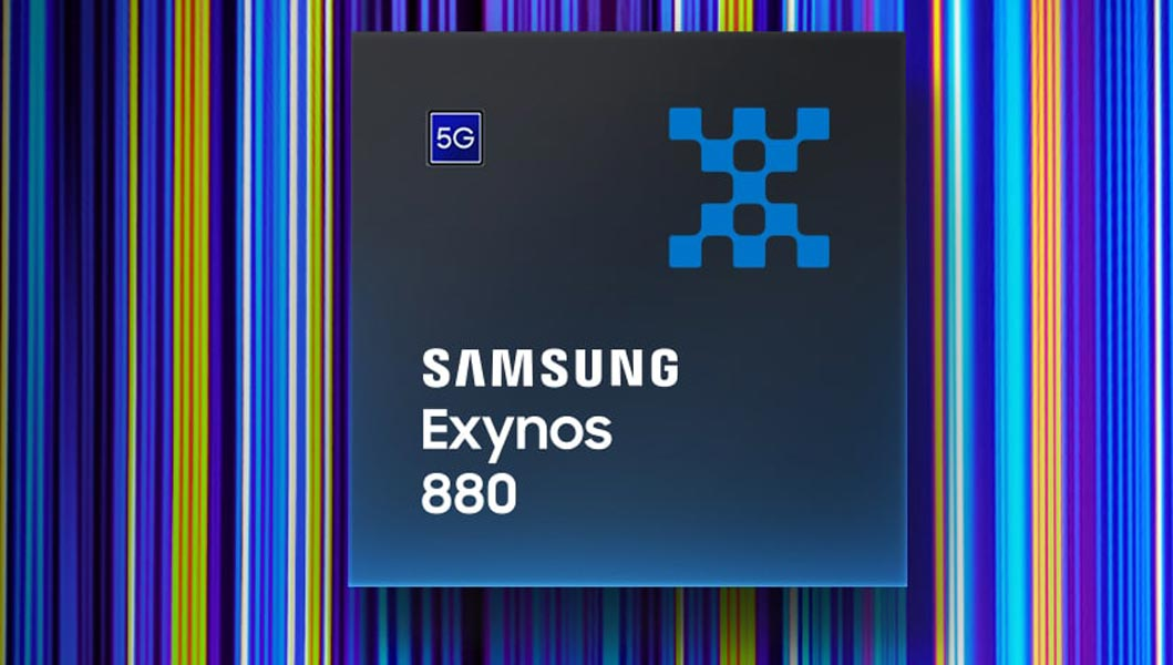 Samsung Exynos 880 Processor Top Side