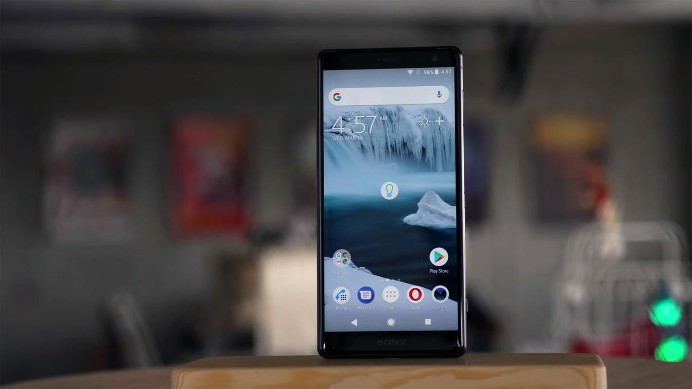 Sony Xperia XZ2 Front Side on the Table