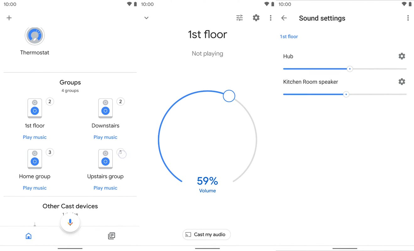 Volume Control Google Home Speaker Group