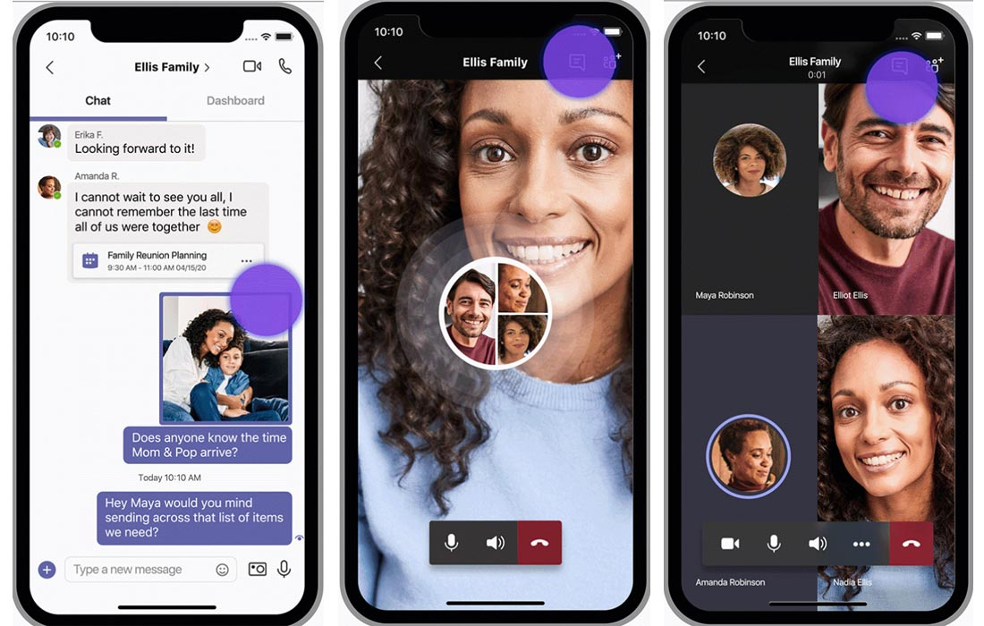 Chat and Video call feature Microsoft Teams Personal