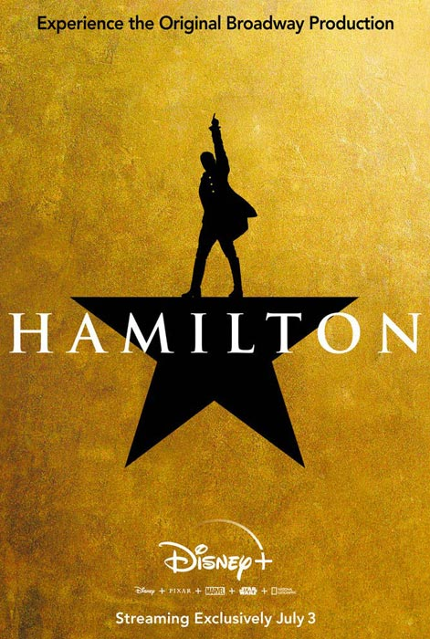 Disney+ Hamilton Movie Poster
