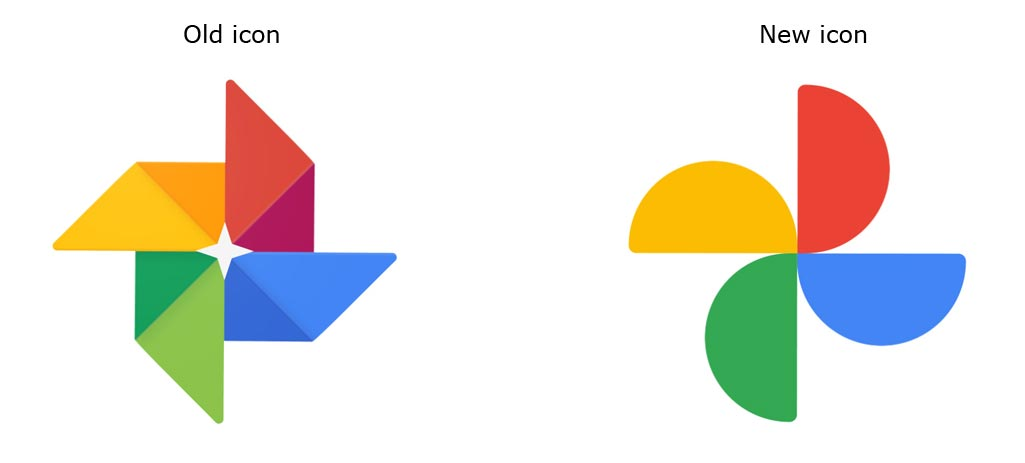 Google Photos Old and New Icon