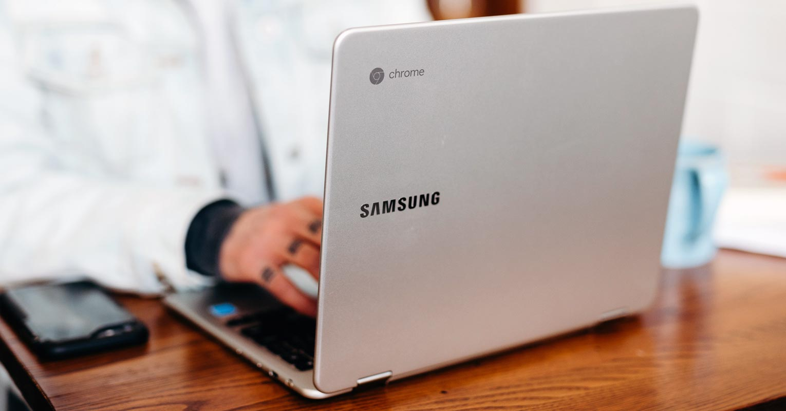 Samsung Chromebook on the table