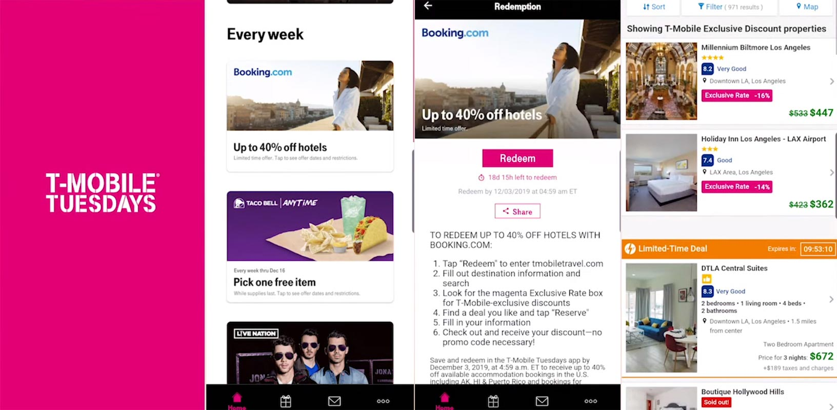 T-Mobile Tuesday Promotions Redeem App Screenshots