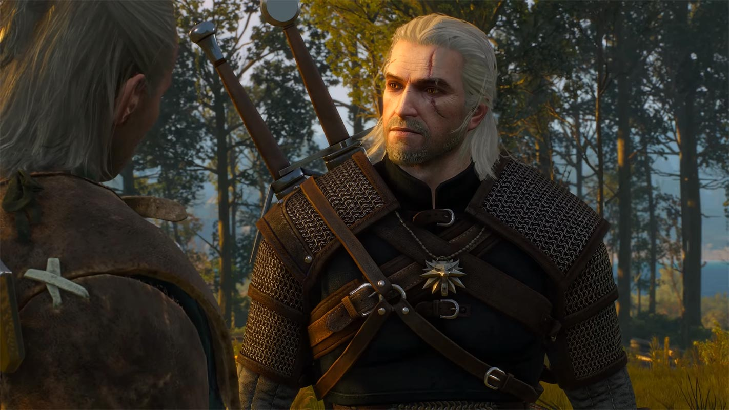 The Witcher 3 Geralt of Rivia Closeup