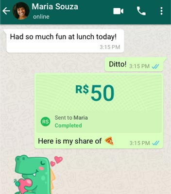 WhatsApp Payments Brazil Screenshot