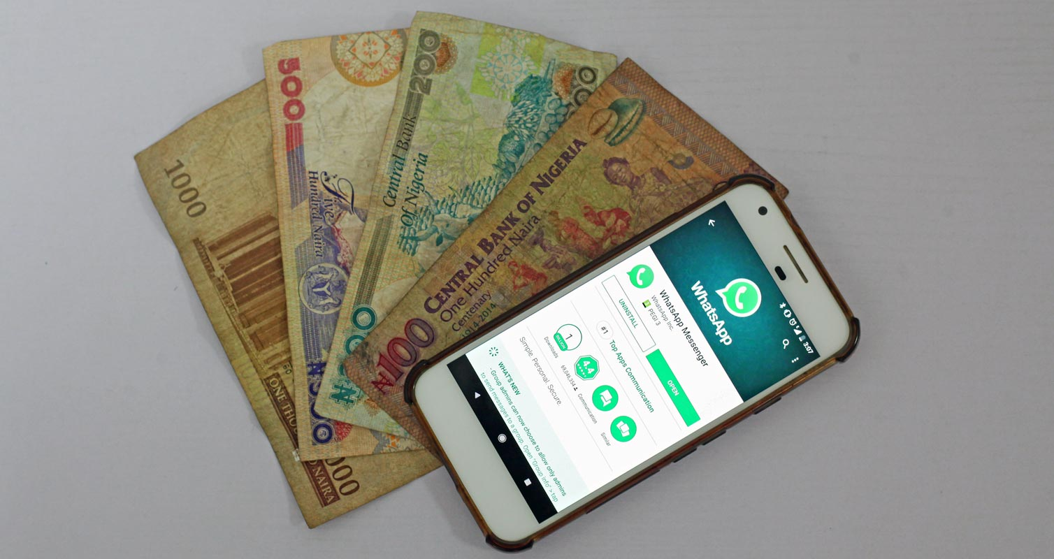 WhatsApp in Play Store with Money Demo