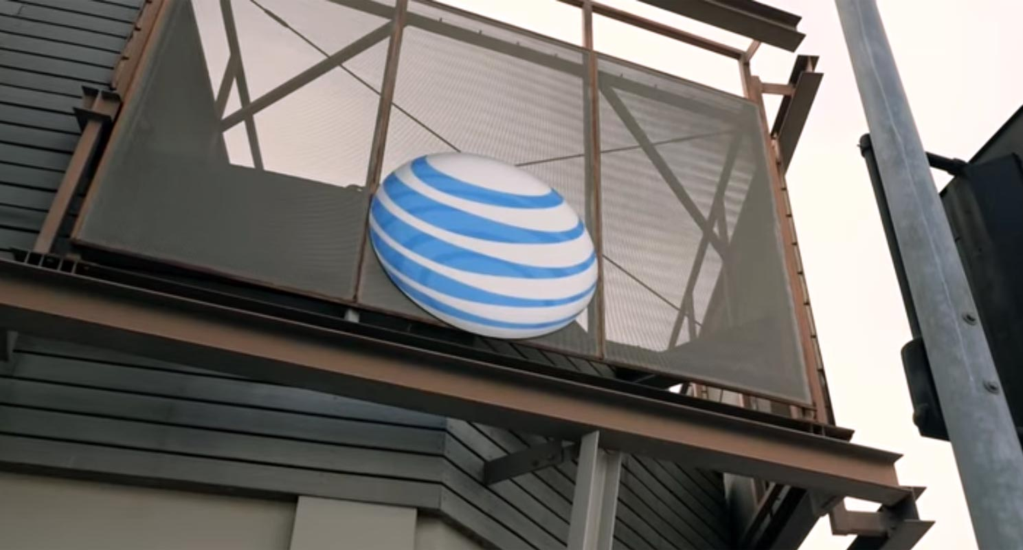 AT&T Logo in the Shop