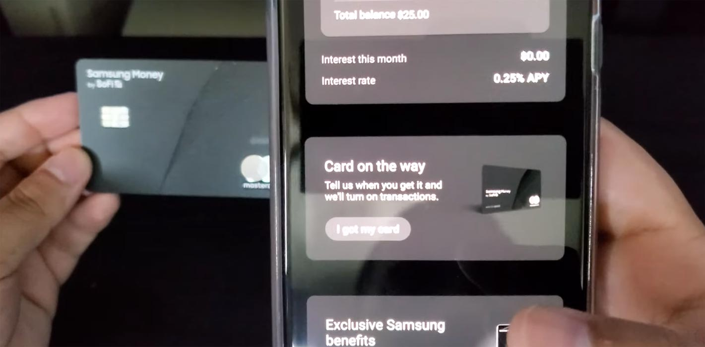 Activating Samsung SoFi Debit card using Samsung Pay