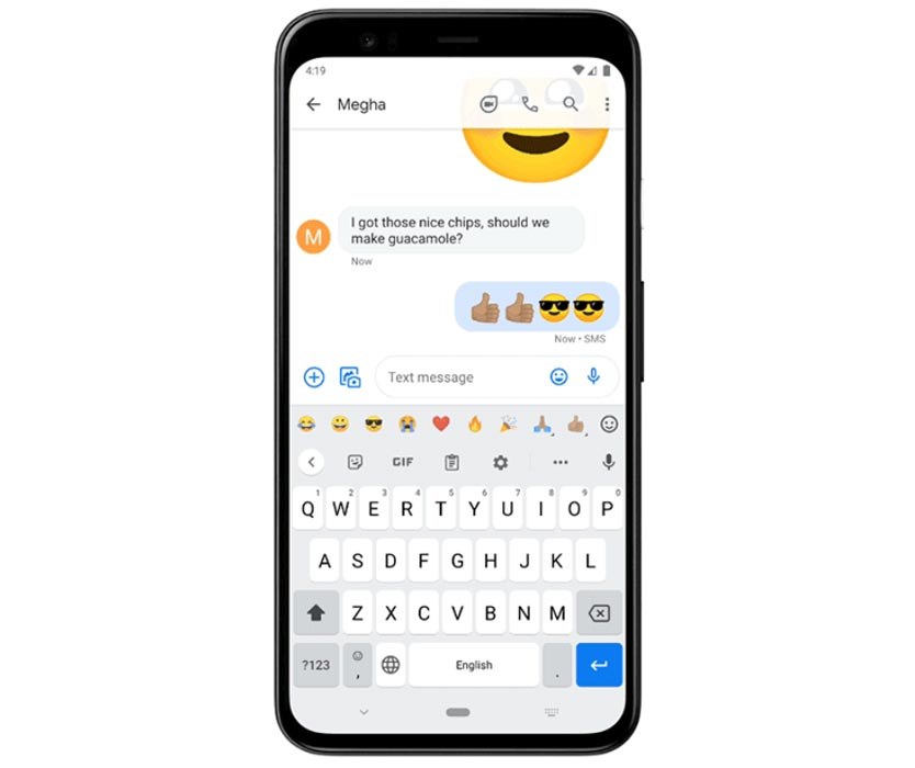 Emoji Bar in Gboard