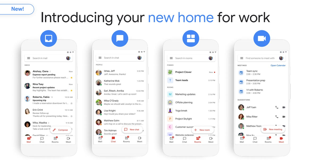 Google Docs, Chat and Meet integration Coming to Gmail