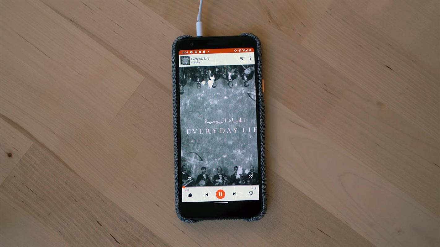 Google Pixel 3a with Headphone