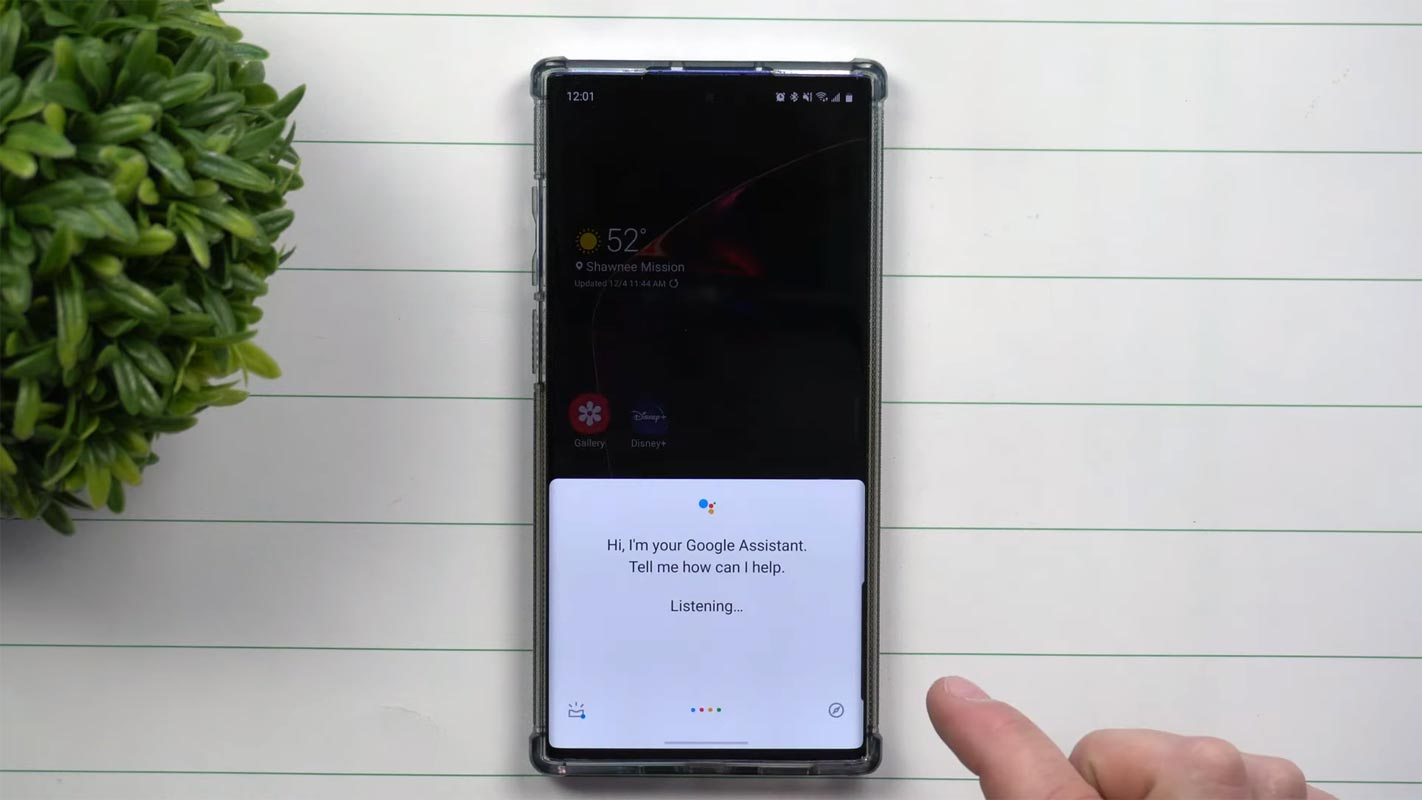 Launching Google Assistant in Samsung Mobiles