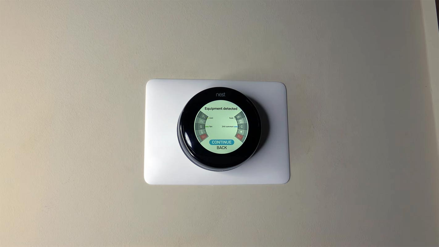 Nest Thermostat in the Wall