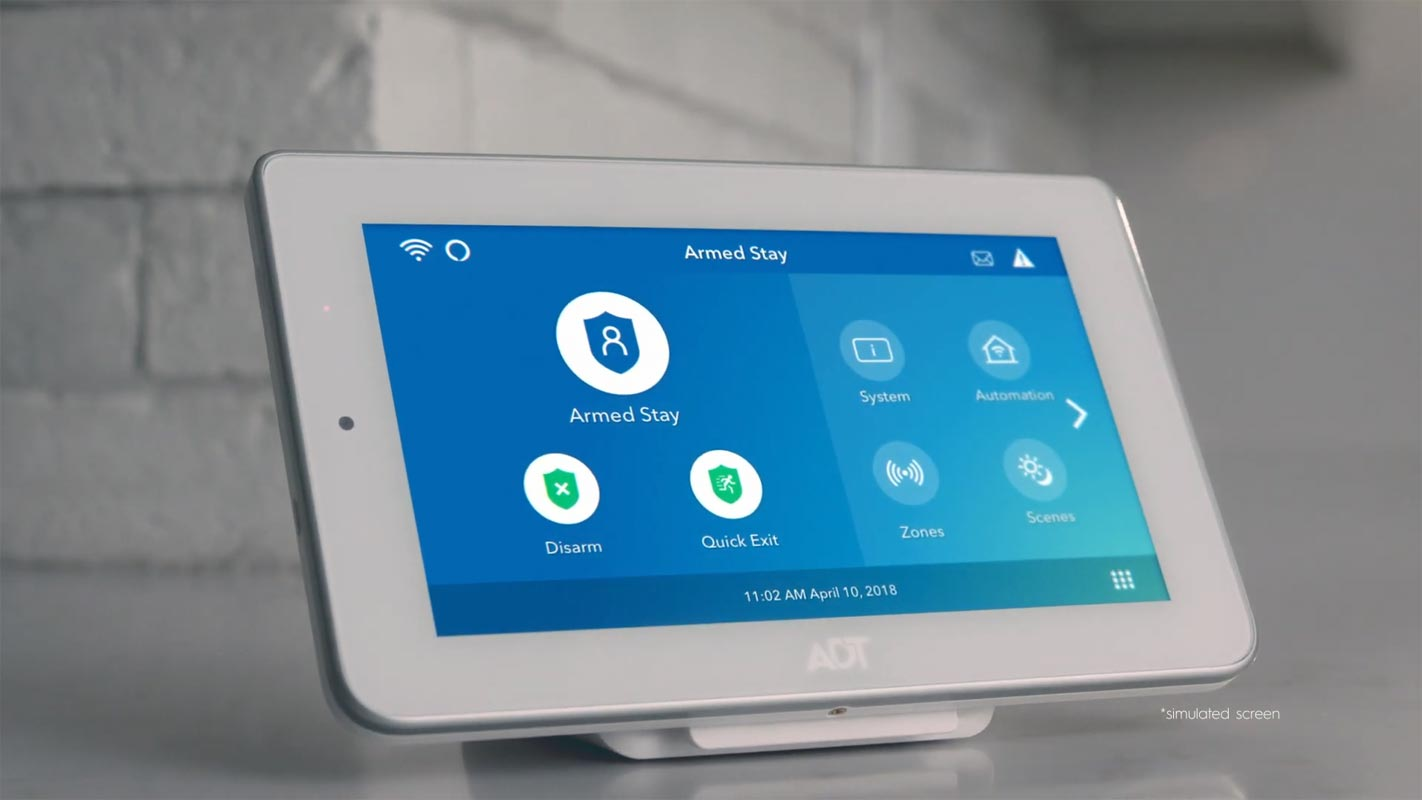 ADT Home Security Screen