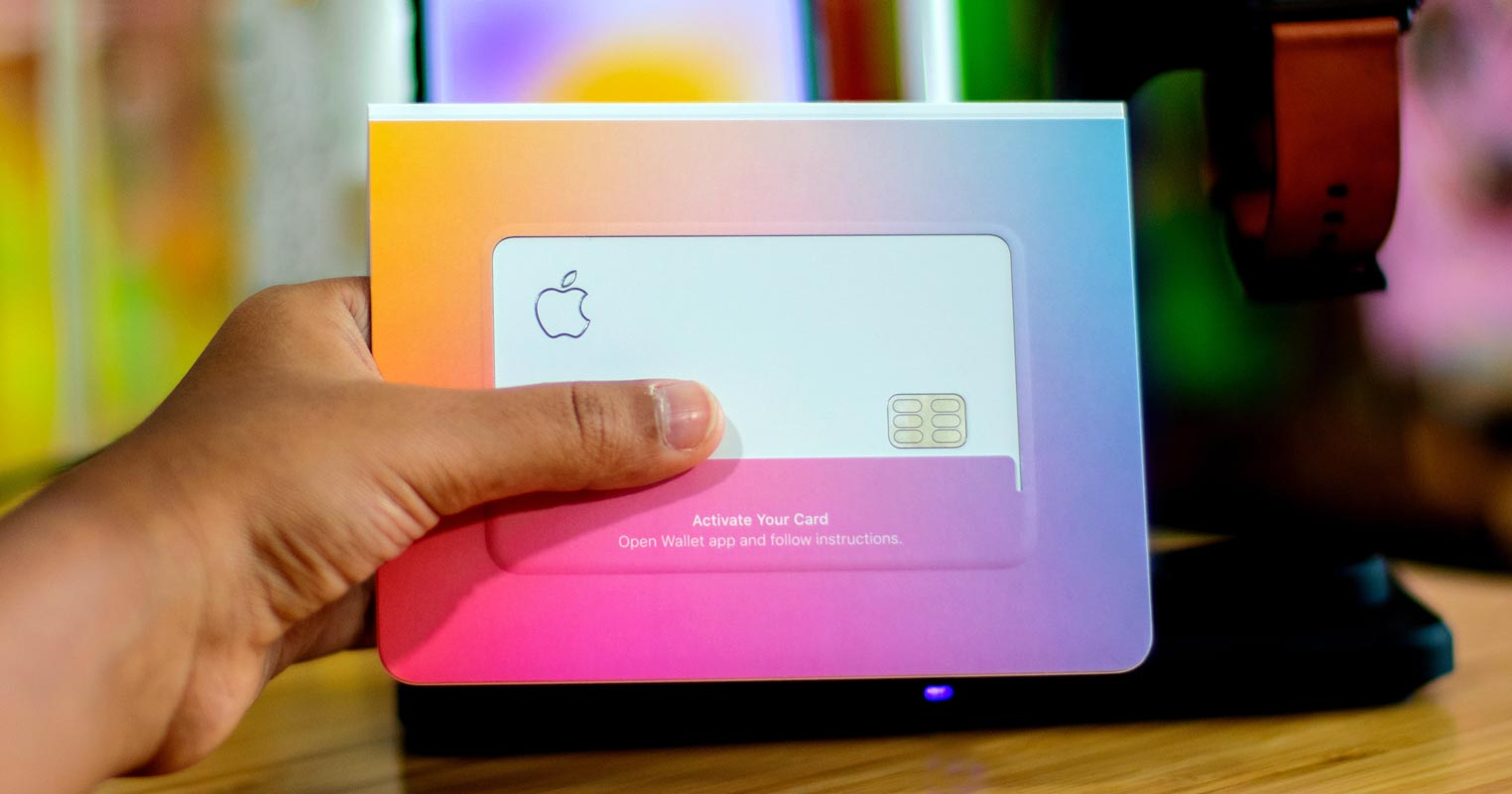 Apple Card Package in hand