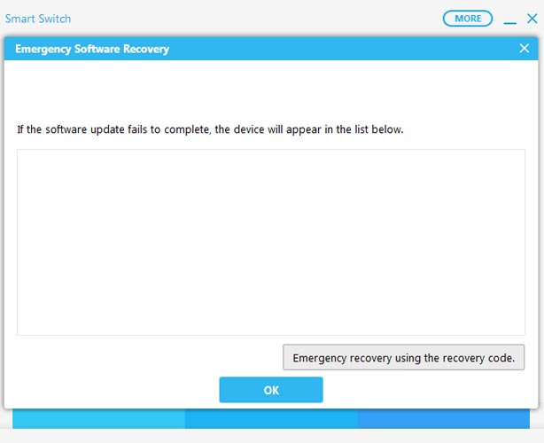 Emergency Software Recovery Samsung