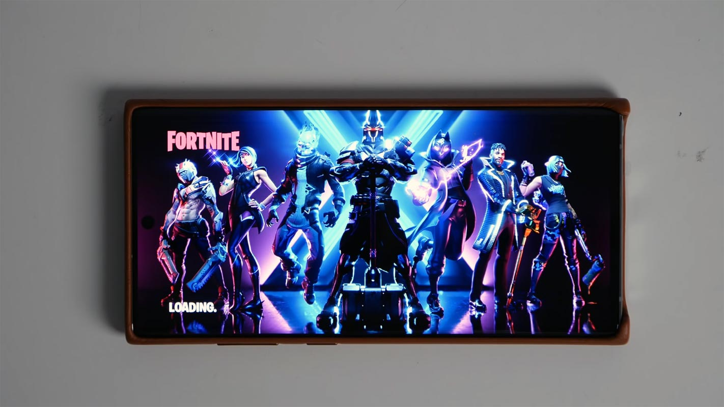 Fortnite Load Screen In Samsung Galaxy Note 20
