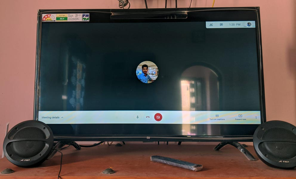 Google Meet on Android TV