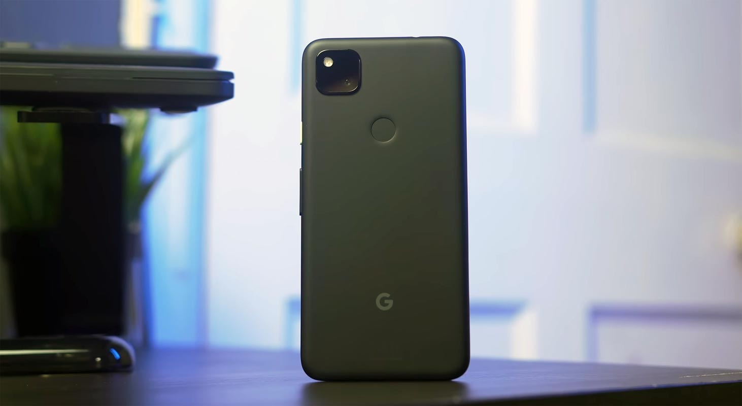 Google Pixel 4a Back Side on the table