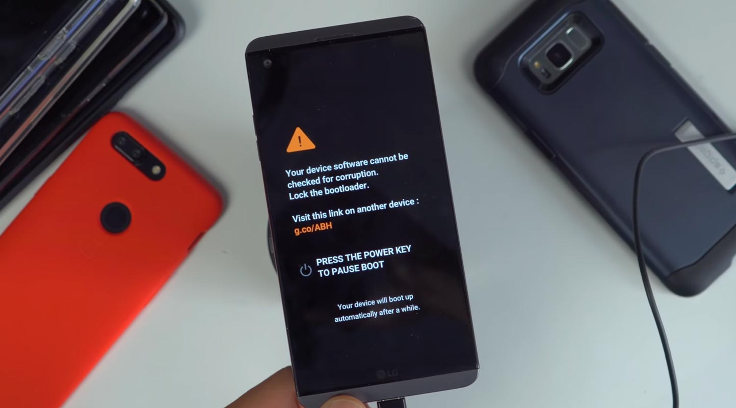 LG Bootloader Unlock Warning Message