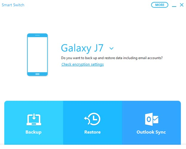 Restore Data Samsung SmartSwitch