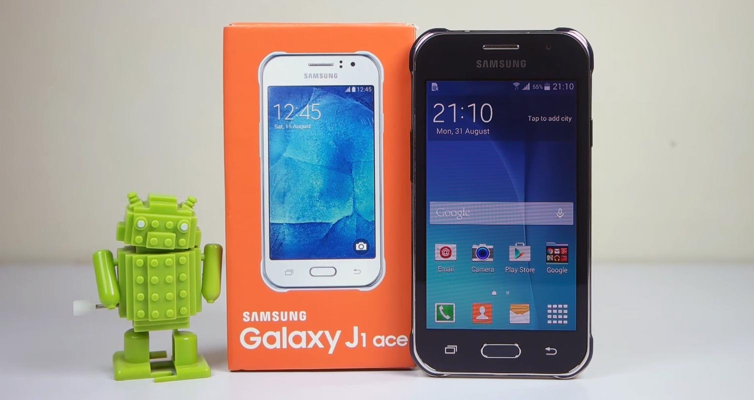 Samsung Galaxy J1 Ace with Android Toy