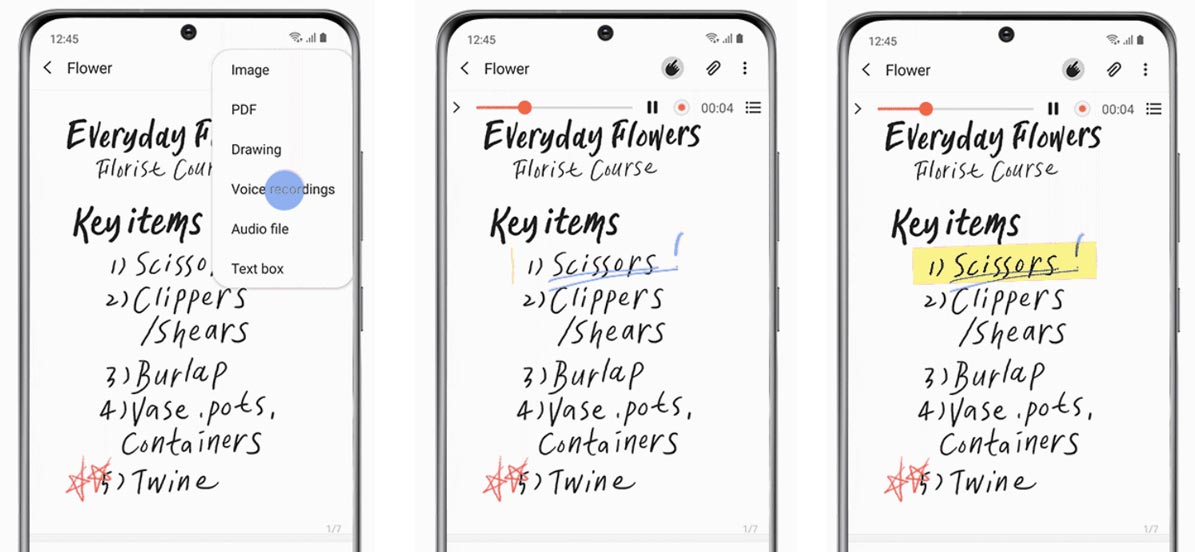 Samsung Galaxy One UI 2.5 Notes Feature