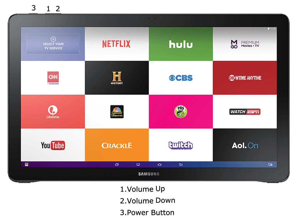 Samsung Galaxy View Recovery Mode Key combinations