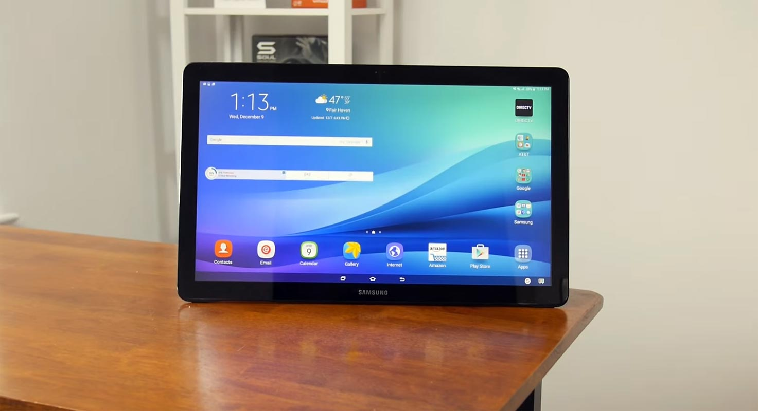 Samsung Galaxy View on the Table