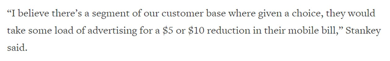 AT&T low price plans when you accept Ads
