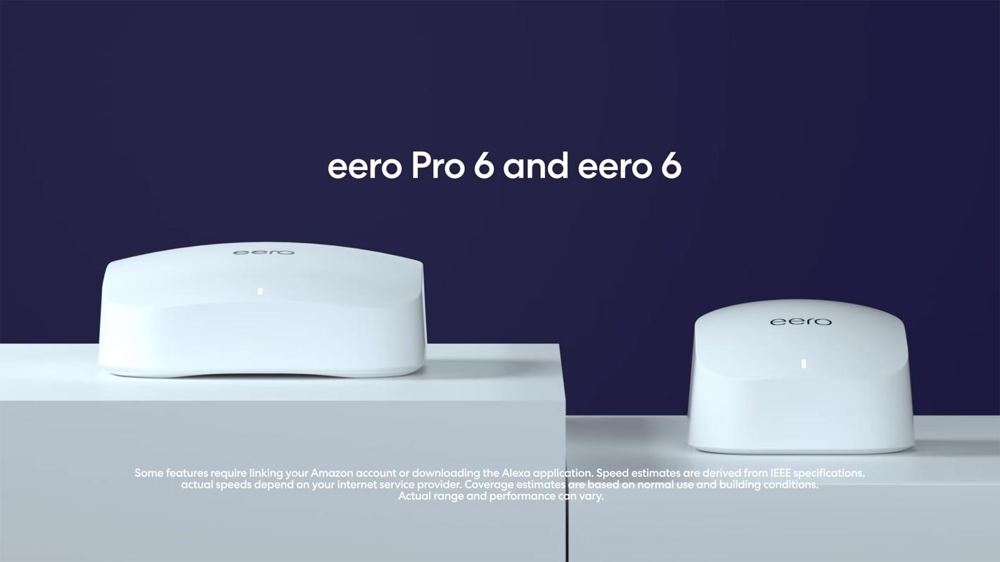 Amazon eero 6 and eero pro 6