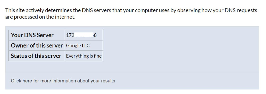 DNS Server Results