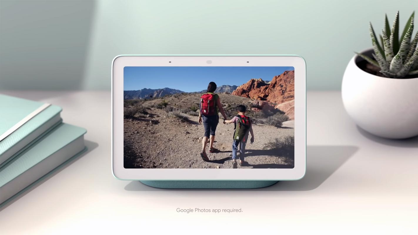 Google Nest Photos Slideshow without date time and location