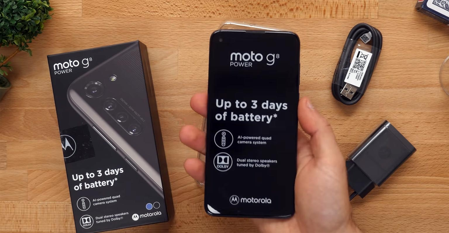 Moto G8 Power Unboxing with retail box