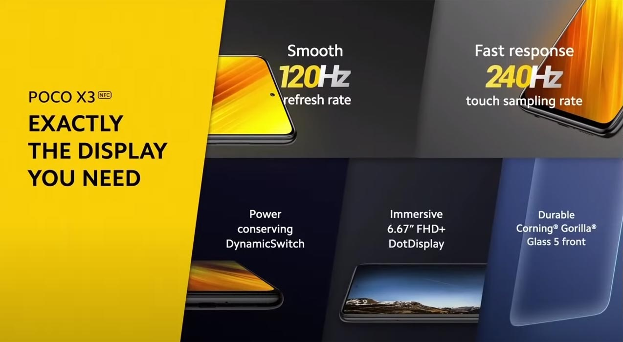 Poco X3 Display Specs