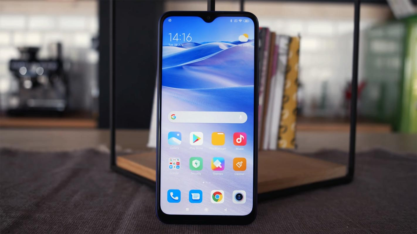 Redmi 9 Home Screen on the table