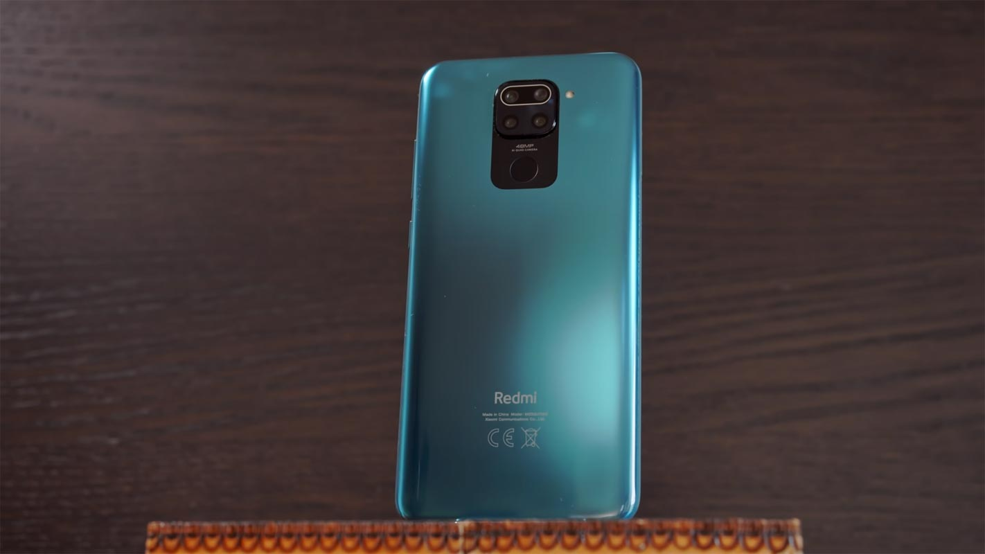 Redmi Note 9 Back side on the table