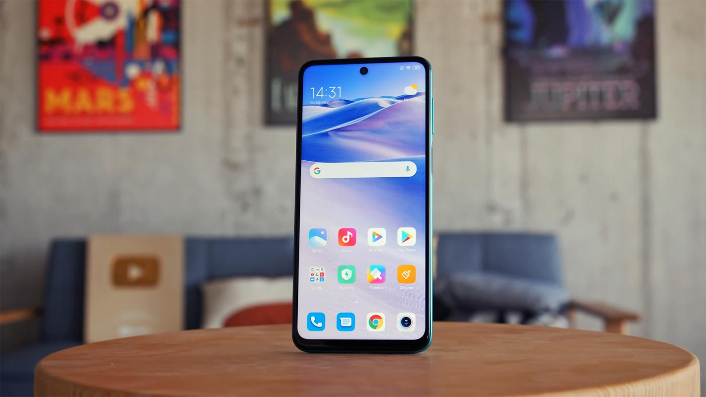 Redmi Note 9S front screen on the table