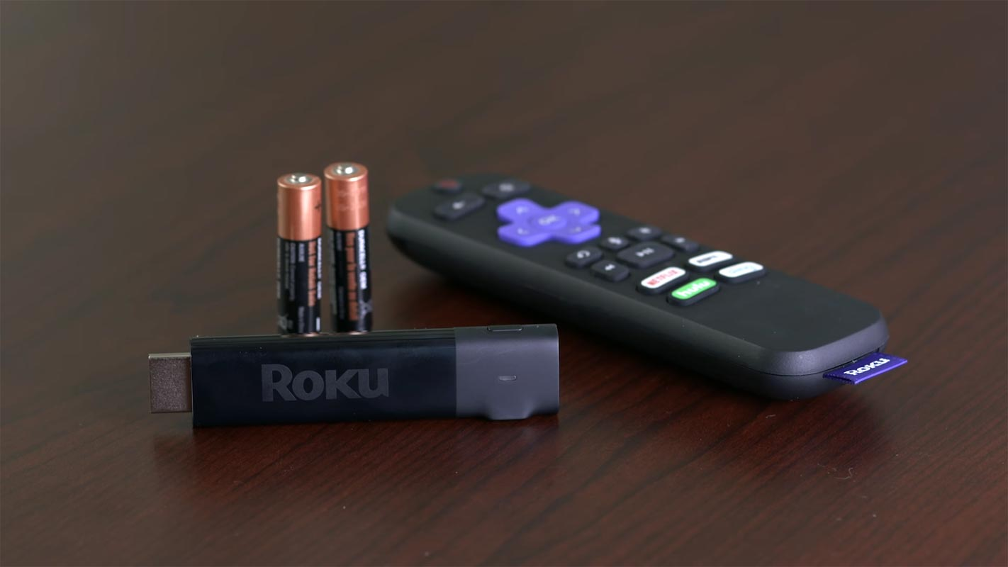 Roku Stick with Remote and Batteries