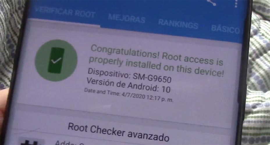 Samsung Galaxy S9 Plus Snapdragon SM-G9650 Android 10 Root Checker