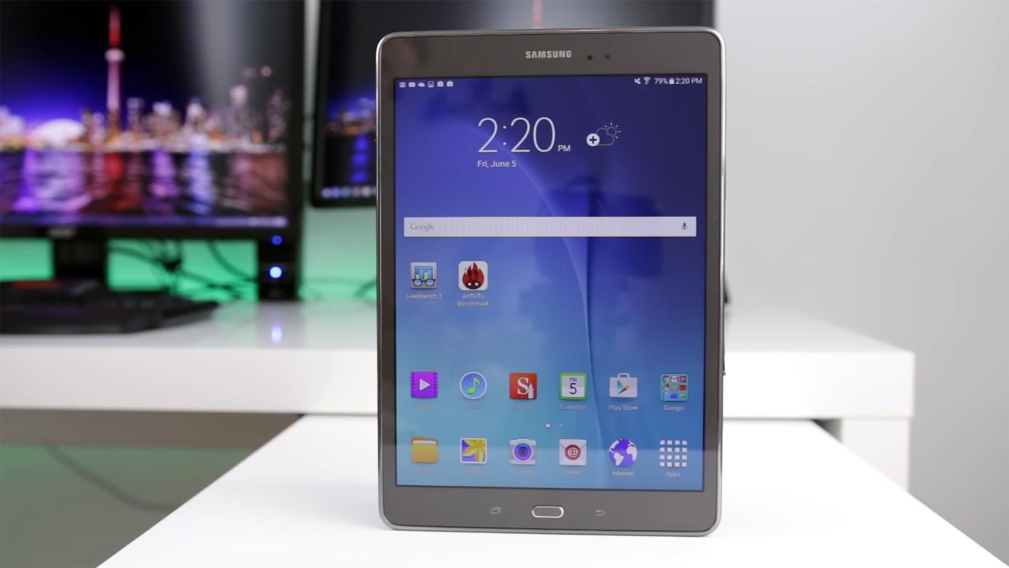 Samsung Galaxy Tab A 9.7 2015 on the table