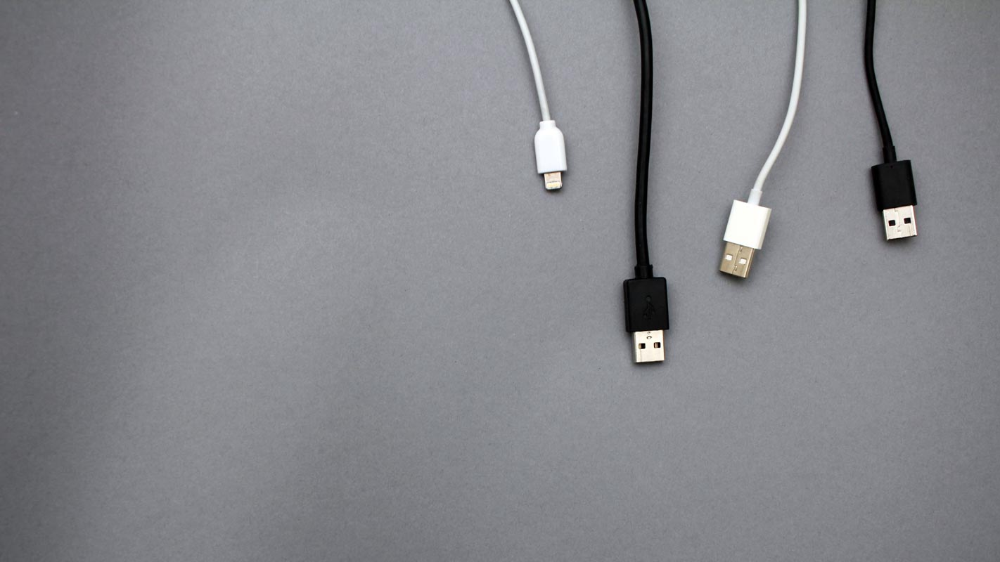 USB Cables in the Table