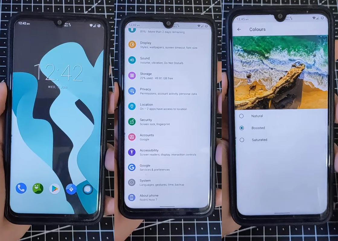 Xiaomi Redmi Note 7 Lineage OS 17.1 Android 10 Screenshots