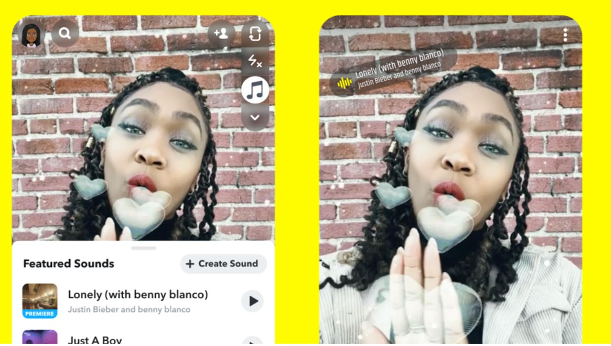 Add Sounds Feature in Snapchat