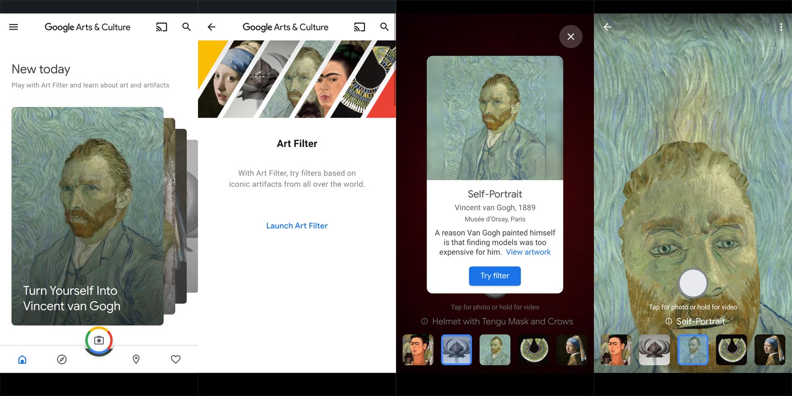 Google AR Art Filter Cultural and Historical Painting try